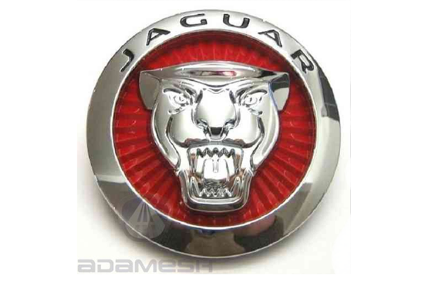 Jaguar Early Red Grille Badge